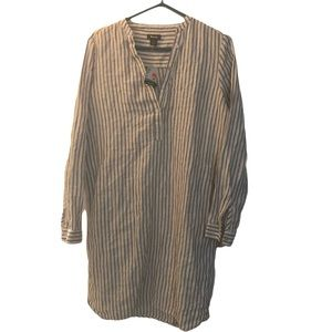 BNWT Roots Linen Pinstripe Tunic Dress size M